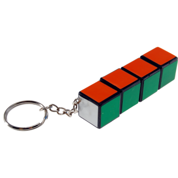 QJ 3x3x3 Mini Magic Cube Keychain. White Base  9b089d67a447