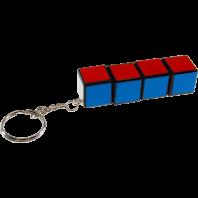 QJ 3x3x3 Mini Magic Cube Keychain. White Base