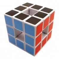 LanLan Hollow 3x3 Void Magic Cube. White Base