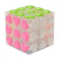 YJ 3x3 Heart Tiles. Cubo Mágico Transparente con Corazones