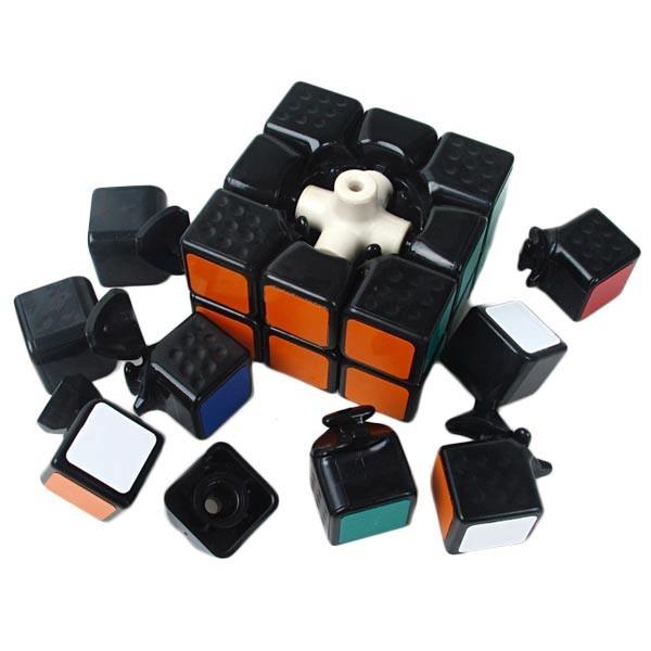 shengshou linglong 46mm mini 3x3x3 black base. Black Bedroom Furniture Sets. Home Design Ideas