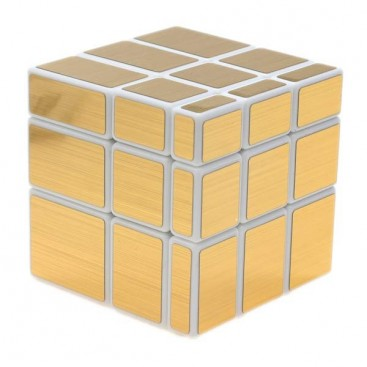 ShengShou Mirror Gold 3x3x3 Magic Cube. White Base