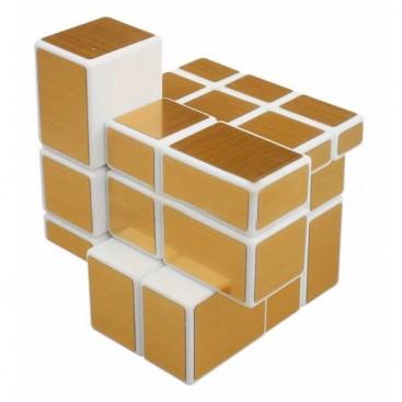ShengShou Mirror Gold 3x3x3 Cubo Mágico. Base Blanca