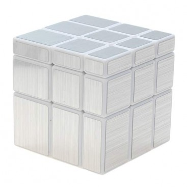 ShengShou Mirror Silver 3x3x3 Magic Cube. White Base