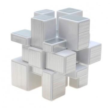 ShengShou Mirror Silver 3x3x3 Magic Cube. White Base