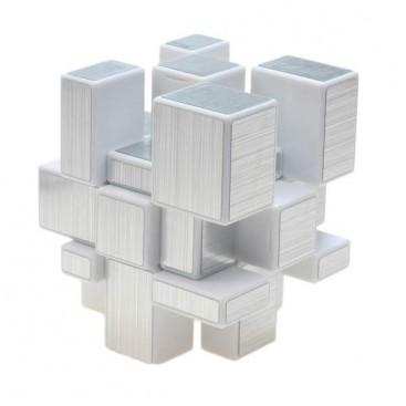 ShengShou Mirror Silver 3x3x3 Cubo Mágico. Base Blanca
