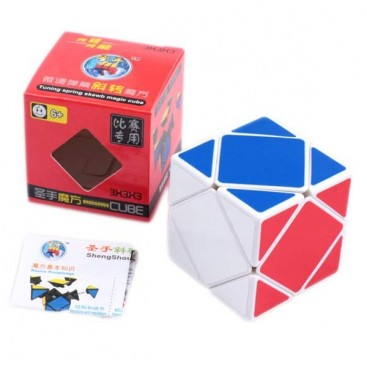 ShengShou SkewB Magic Cube. White Base