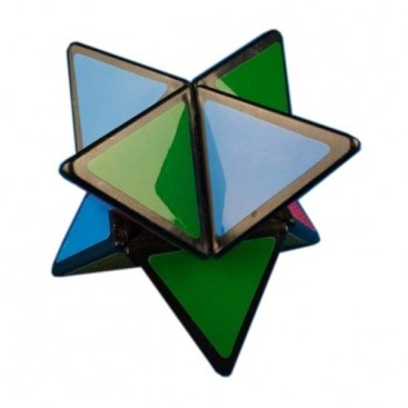 Mozhi Aardwolf Base Negra. Cubo Mágico Estrella Tetraédrica