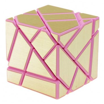FangCun Ghost Cube. Pink Base Golden Stickers