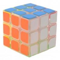 YJ GuanLong 3x3 Cubo Mágico Transparente