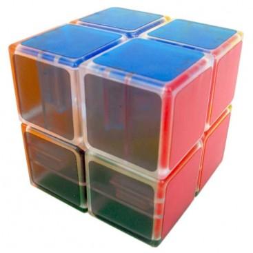 LanLan Tranks 2x2 Magic Cube. Transparent Base