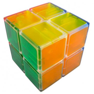 LanLan Tranks 2x2 Magic Cube. Transparent Base