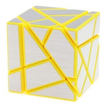 FangCun Ghost Cube. Base Amarilla Pegatinas Plateadas