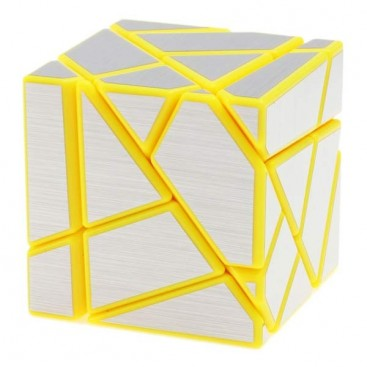 FangCun Ghost Cube. Yellow Base Silver Stickers