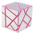 FangCun Ghost Cube. Base Rosa Pegatinas Plateadas