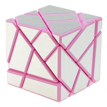 FangCun Ghost Cube. Pink Base Silver Stickers