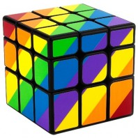 YJ Unequal Mirror Rainbow 3x3x3