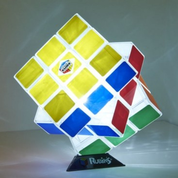 Rubik cube 3x3x3 LAMP. Rubik's 3x3 100% functional and GIANT.