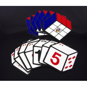 Juego de Cartas del cubo de Rubik 3x3. Poker.