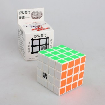 YJ Shensu 4x4x4 Magic Cube. White Base