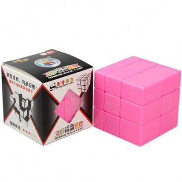 Mirror Pink 3x3x3 Cubo Mágico. Solid pink