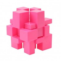 Mirror Pink 3x3x3 Cubo Mágico. Stickerless - Solid base rosa.