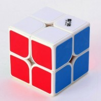 Qiyi Cavs 2x2 Magic Cube. Base blanche