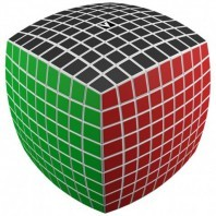 V-Cube 8x8 Magic Cube. Black Base