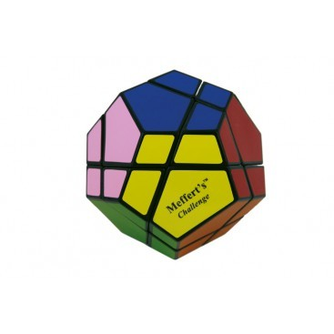 SkewB Ultimate 12 colors Black Base. Magic Cube SKEW-B