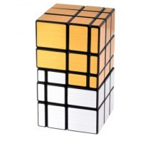 Mirror Gold 3x3x3 Magic Cube. Black Base
