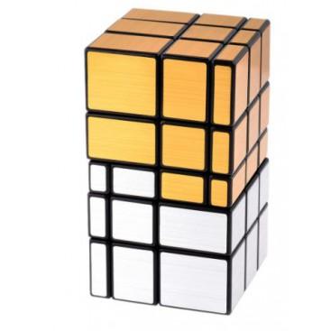 Mirror Gold 3x3x3 Magic Cube. Black Base