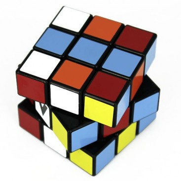 V-Cube 3 Flat Magic Cube. Black Base