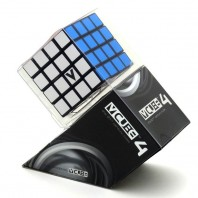 V-Cube 4 Flat 4x4x4 Magic Cube. Black Base
