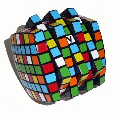 V-Cube 7x7x7 Magic Cube. Black Base