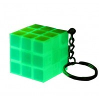 Z-CUBE KEYCHAIN 3X3 BLUE LIGHT