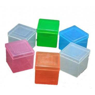 Boîte Bleu Transparent pour Cubes Magiques