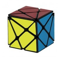 Cube 3 x 3 Axis. Black magic cube base.