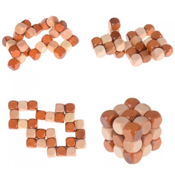 Snake Cube Puzzles Madera Maskecuboscom