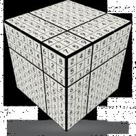 Magic SUDOKU 3 x 3 cube.