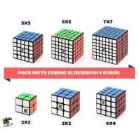 Lote Iniciación 6 cubos Speed Cubing Black