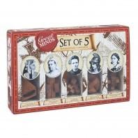 JOGO DE 5 JOGOS INGÊNIOS EM MADEIRA - THE 5 GREAT LADIES