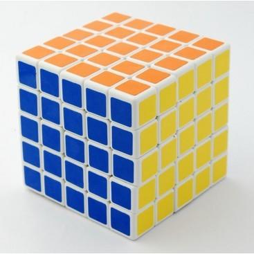 Cubo Shengshou 5x5 Eje De Bola. Base Blanca.