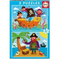 PUZZLE DOBLE PIRATAS 2X20