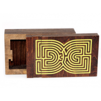 WOOD LABYRINTH BOX