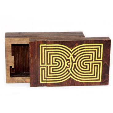 WOOD LABYRINTH BOX