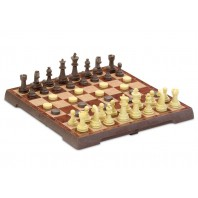 FOLDING MAGNETIC CHESS-CHECKERS