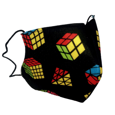 CUBES SILHOUETTE ADULT MASK