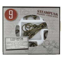 9 STEAMPUNK PUZZLES GREY BOX
