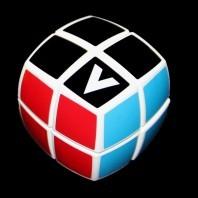 V-Cube 2b Pillow Magic Cube. White Base