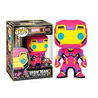 FIGURA FUNKO POP MARVEL BLACK LIGHT IRON MAN